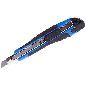 """Нож канцелярский 9 мм """"Comfort"""", auto-lock, металл/направляющие, мягкие вставки, европодвес."""