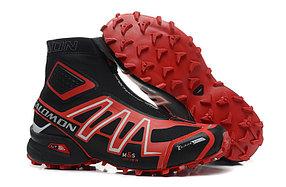 Зимние кроссовки Salomon Speedcross красные