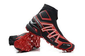 Зимние кроссовки Salomon Speedcross красные, фото 2