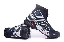 Зимние кроссовки Salomon Speedcross синие, фото 3