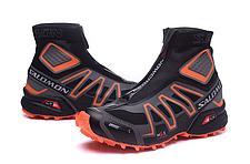 Зимние кроссовки Salomon Speedcross черно-оранжевые, фото 2