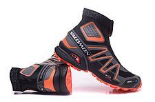 Зимние кроссовки Salomon Speedcross черно-оранжевые, фото 3