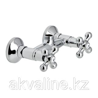 Смеситель для ванны 2-х вентильный хромированный, настенный монтаж на два отверстия, серии NEW REGENT
