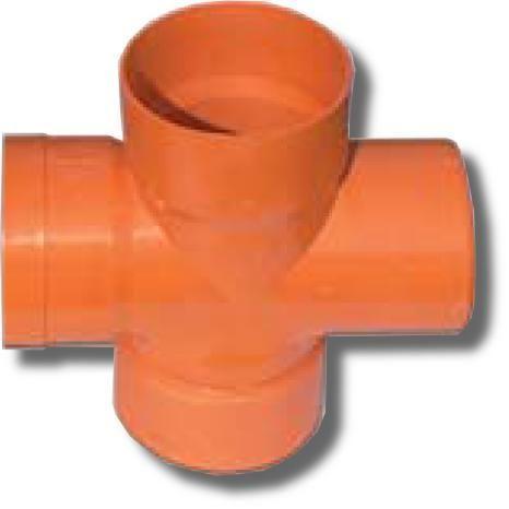 Крестообразное соединение для двустенных труб, 90°, D=160, 022160