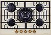 Варочная поверхность Kuppersberg газовая бежевый/ поворотные переключатели цвета бронзы