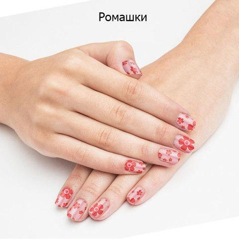 Наклейки-тату на ногти WOW ТАТУ, 14 штук (Ромашки) - фото 10