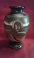 """Антикварная японская ваза """"Сцены из жизни богов"""""""