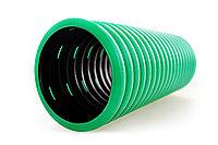 DKC Труба гибкая двустенная дренажная д.160мм, класс SN6, перфорация 360 град., цвет зеленый, фото 1
