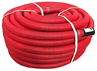 DKC Труба гибкая двустенная для кабельной канализации д.50мм, цвет красный, в бухте 100м., без протяжки, фото 1