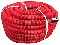 DKC Труба гибкая двустенная для кабельной канализации д.75мм, цвет красный, в бухте 50м., без протяжки, фото 1
