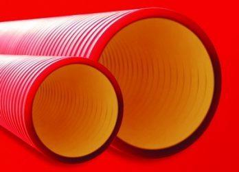 DKC Труба гибкая двустенная для кабельной канализации д.90мм, цвет красный, в бухте 50м., без протяжки - фото 2