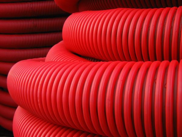 DKC Труба гибкая двустенная для кабельной канализации д.90мм, цвет красный, в бухте 50м., без протяжки - фото 3