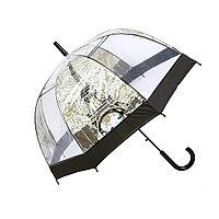 """Прозрачный женский зонт-трость полуавтомат """"Париж"""", фото 1"""