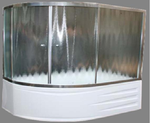 Шторка Diana  170х105х140 хром/бел