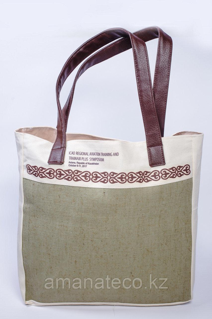 Эко сумка комбинированная - фото 1