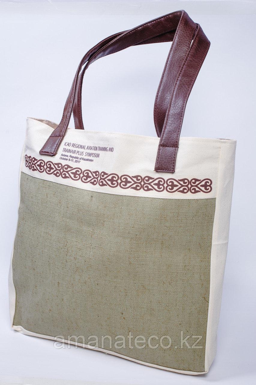 Эко сумка комбинированная - фото 2