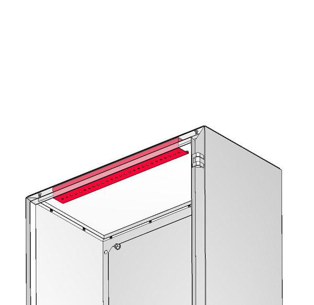Профиль для крепления лампы для шкафа шириной 800 мм.