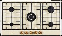Варочная поверхность газовая Kuppersberg FV9TGRZ C Bronze бежевый/переключатели-бронза