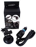 Комплект автомобильный (крепление на лобовое стекло + зарядное устройство в прикуриватель) для экшн-камеры SJC