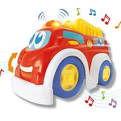 Игрушка для малышей - Веселая машинка. Пожарная служба, свет и звук
