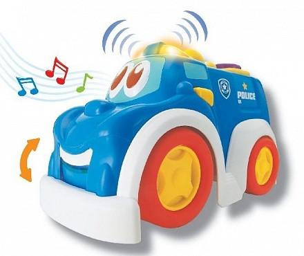 Игрушка для малышей - Веселая машинка. Полицейская служба, свет и звук