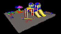 Дворовые площадки, песочница, качеля балансир, рукоход, шведская стенка, карусель, фото 1