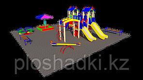Дворовые площадки, песочница, качеля балансир, рукоход, шведская стенка, карусель