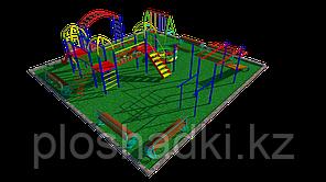 Дворовые площадки, скамейки, рукоходы, качели, лестница