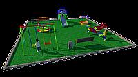 Дворовые площадки, качели, карусель, горка, скамейка, качеля лодочка, фото 1