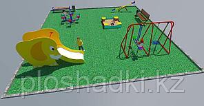 Дворовые площадки, качели, песочница, горка, скамейка, качеля балансир