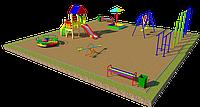 Площадка детская, песочница, карусель, качели, скамейки,, шведская стенка, фото 1