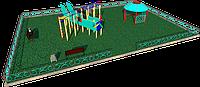 Площадка детская, песочница, качеля, игровой комплекс, рукоходы, фото 1