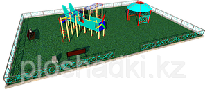 Площадка детская, песочница, качеля, игровой комплекс, рукоходы