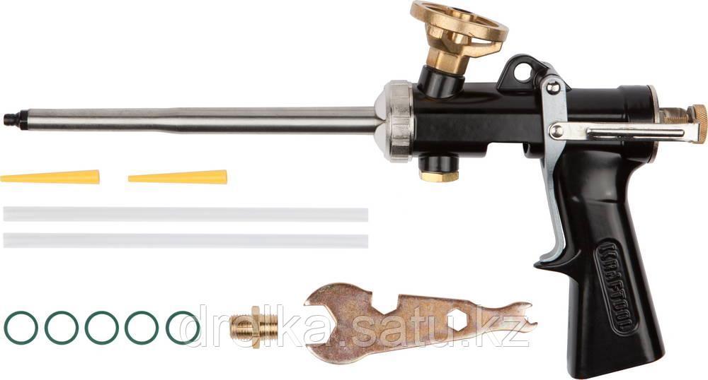 Пистолет для пены монтажной KRAFTOOL 06853, PRO, цельнометаллический