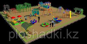 Детская площадка песочный городок, воркаут, качеля на пружине, рукоходы, горки, качели балансиры, беседка