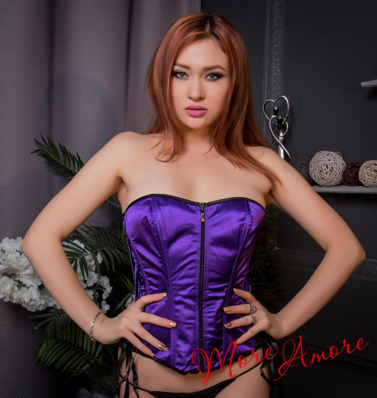 Фиолетовый корсет на замочке