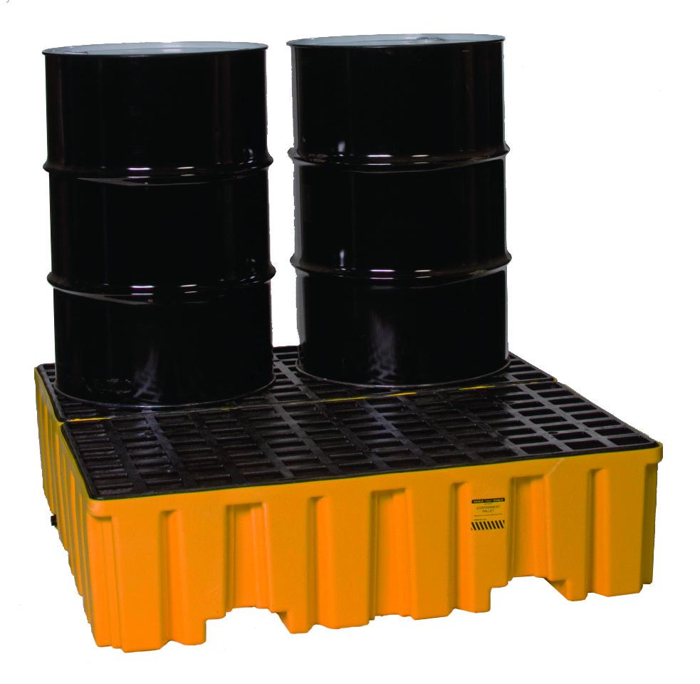 Поддон пластиковый для предотвращения проливов масла на 4 бочки, высокий профиль