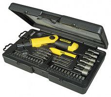 """Отвертка Stanley """"Pistol Grip Ratchet"""" с храповым механизмом в наборе 36-тью вставками (38 предметов)"""