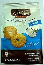 Le Veneziane Печенье с кокосом без глютена 250 гр