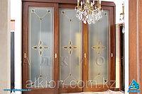 Раздвижные двери с витражами с фьюзинг-декорами, фото 1