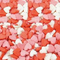 Посыпка Сахарная Сердечки  разноцветная, 1 кг