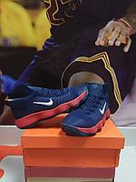 Баскетбольные кроссовки Nike Lunar Hyperdunk 2017 flyknit синие