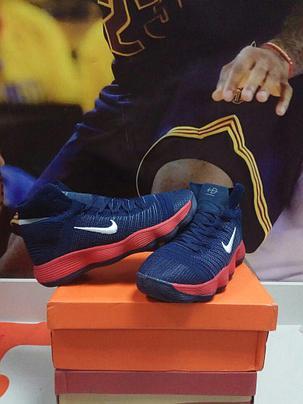 Баскетбольные кроссовки Nike Lunar Hyperdunk 2017 flyknit синие, фото 2