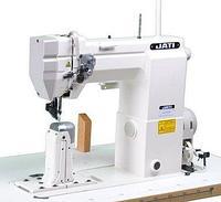 Колонковая 1-игольная швейная машина челночного стежка с роликовым нижним и верхним продвижением JATI JT-9910 (голова)