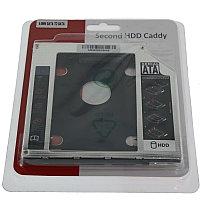 Переходник для ноутбука под дополнительный Диск HDD/SSD памяти вместо DVD-RW SATA