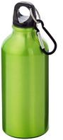 Бутылка для питья с карабином цвет: зеленый. Поворотная крышка. 350мл, фото 1