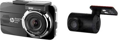 Видеорегистратор HP F890G черный + камера заднего вида HP RC2