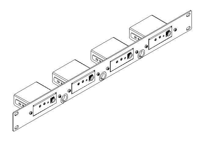 """Адаптер Kramer RK-4PT 1U для 19"""" стойки для 4 приборов PicoTools"""
