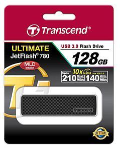 USB Флеш 128GB 3.0 Transcend TS128GJF780 черный