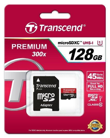 Карта памяти MicroSD 128GB Class 10  U1 Transcend TS128GUSDU1